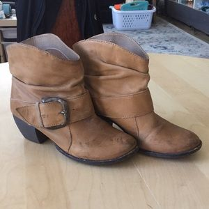 Genuine Leather Mia Booties with buckle
